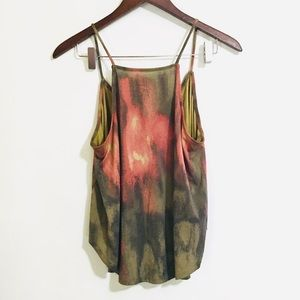 • silence + noise flowy watercolor hi-neck tank •